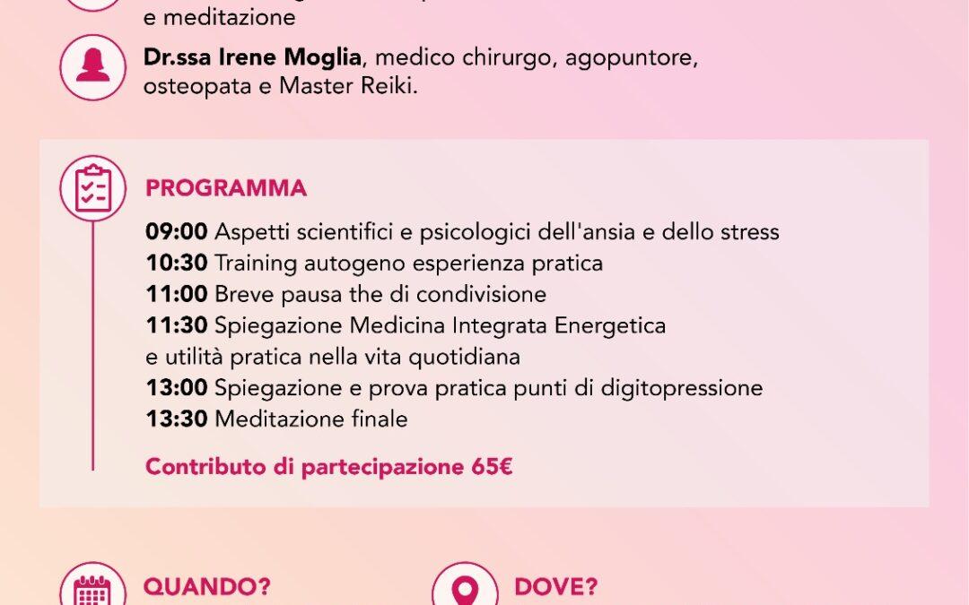 """SEMINARIO """"GESTIONE DELLO STRESS"""" –  Milano 20 ottobre 2018"""